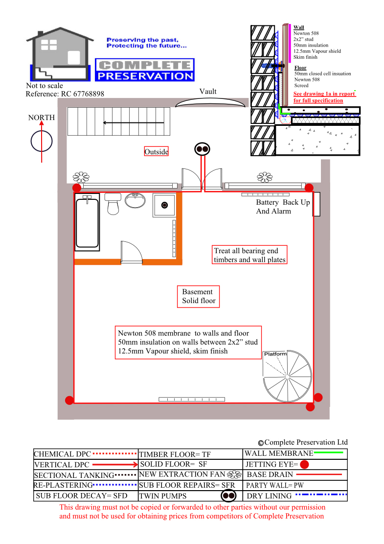 Basement cellar tanking waterproofing designs welcome to for Basement planner online