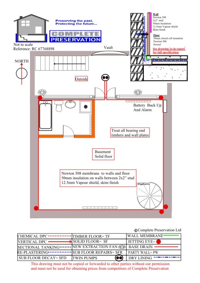 Basement Cellar Vault Damp Proofing Tanking Waterproofing Conversions Bath Wiltshire Somerset