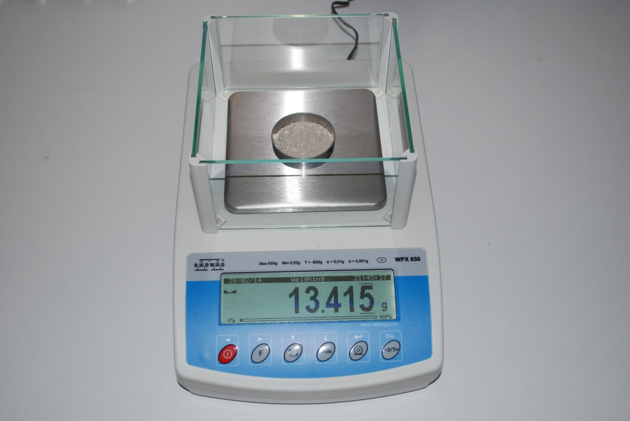Gravimetric damp testing diagnosis