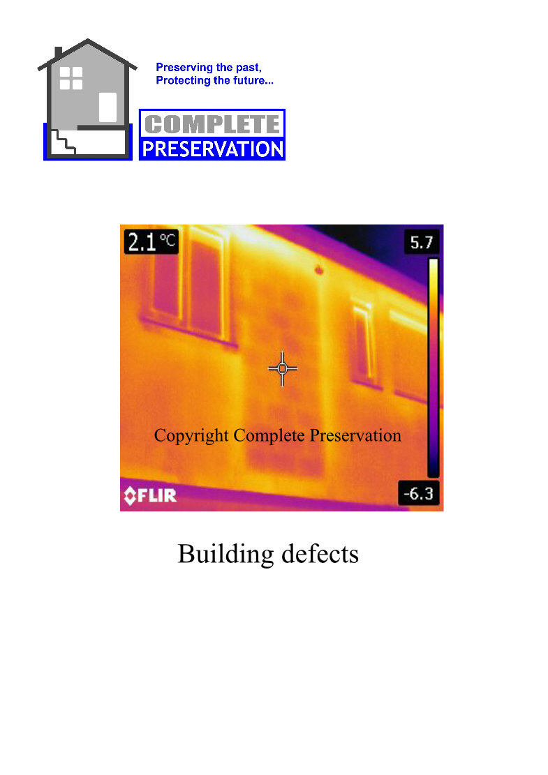 THERMAL IMAGING FOR BUILDING DEFECTS