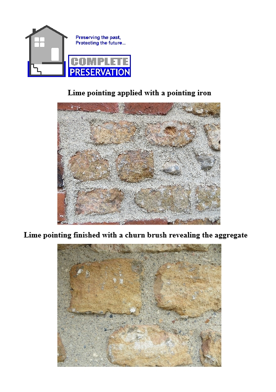 lime pointing churn brush