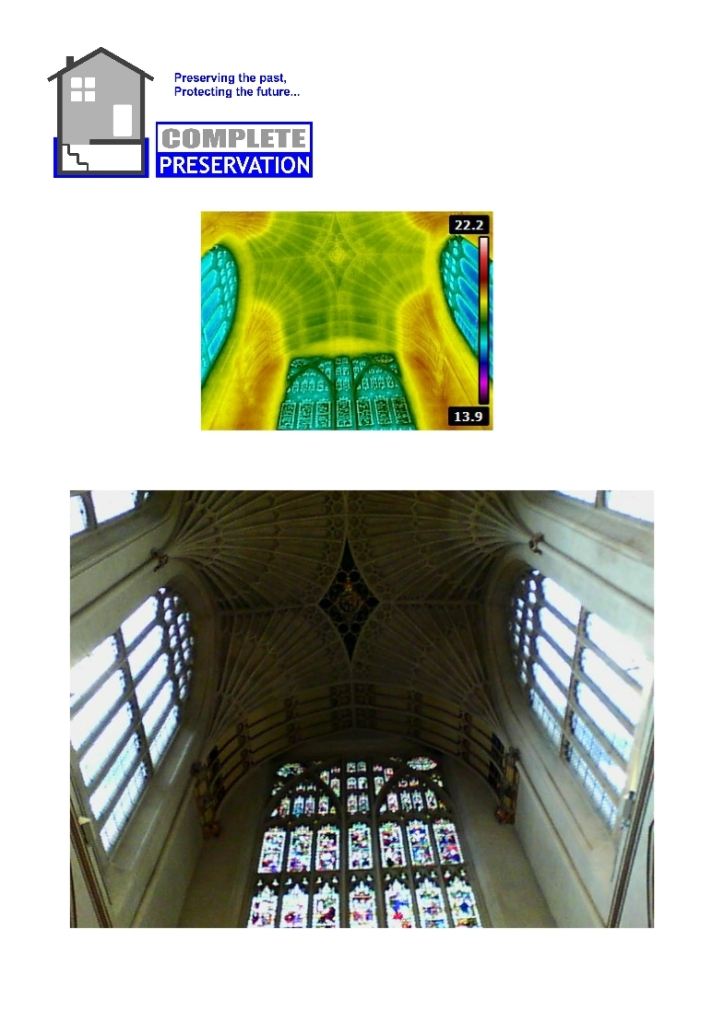 BATH ABBEY THERMAL IMAGE ROOF