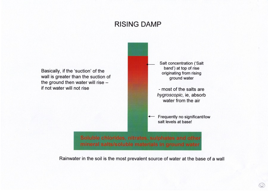 RISING DAMP AND HYGROSCOPIC SALTS
