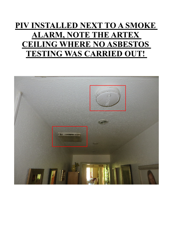 PIV INSTALLED NEXT TO A SMOKE ALARM