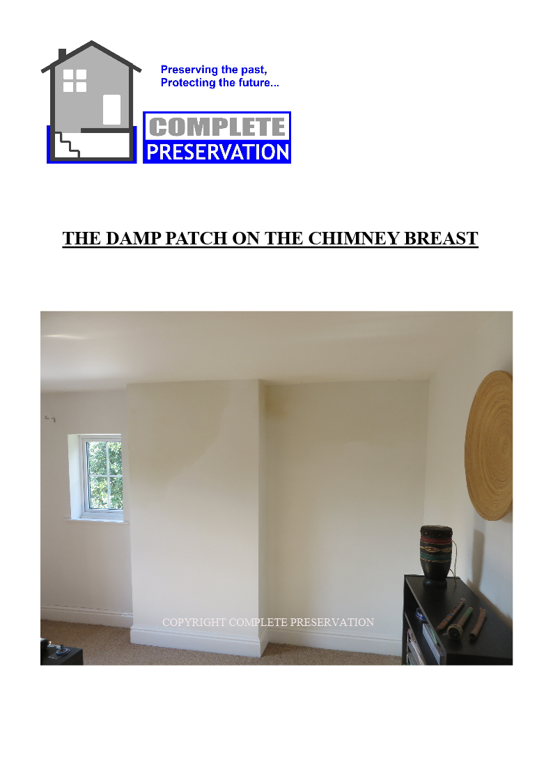 THE DAMP PATCH -STAIN ON THE CHIMNEY BREAST
